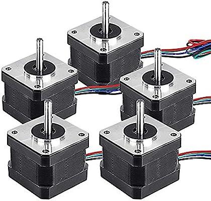 5 piezas Nema 17 motor paso a paso 17HS13-0404S1 Bipolar paso ...