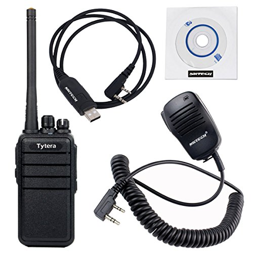 2 Pack NKTECH USB Programming Cable & Remote Speaker Mic and TYT TC-3000S UHF 400-480MHz 8W CTCSS DCS VOX Scrambler COMP Monitor Two Way Radio by NKTECH