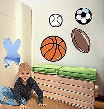 Kinderzimmer Wandsticker Balle Football Fussball Basketball