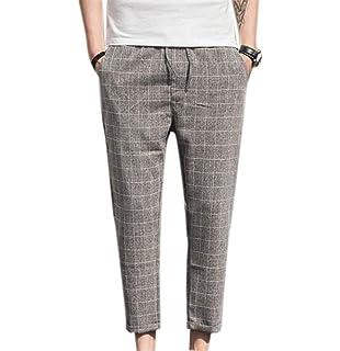 HX fashion Pantalon Neuf À Carreaux pour Hommes Printemps Automne Tailles  Confortables Gentleman Pantalon Mode Élastique a17701c3a66a
