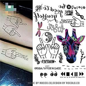 adgkitb 3pcs Multi Style Tatoo Sticker Colorido Tatuaje Temporal ...