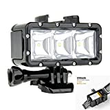 Vicdozia High Power Flash Dimmable Fill Night Light Waterproof Underwater LED Video Light Diving Flash Light Mount Kits for Gopro Hero 4 3+ 3 2 1 Xiaomi Yi SJ4000