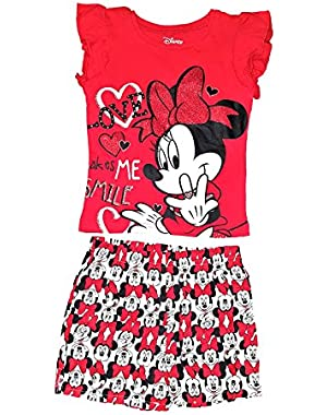 Baby Minnie Mouse Toddler Love Tee Shirt and Short Set
