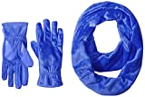 Isotoner Women's Teddy Infinity Scarf and Smartouch Glove Gift Set, Blue Spark, One Size