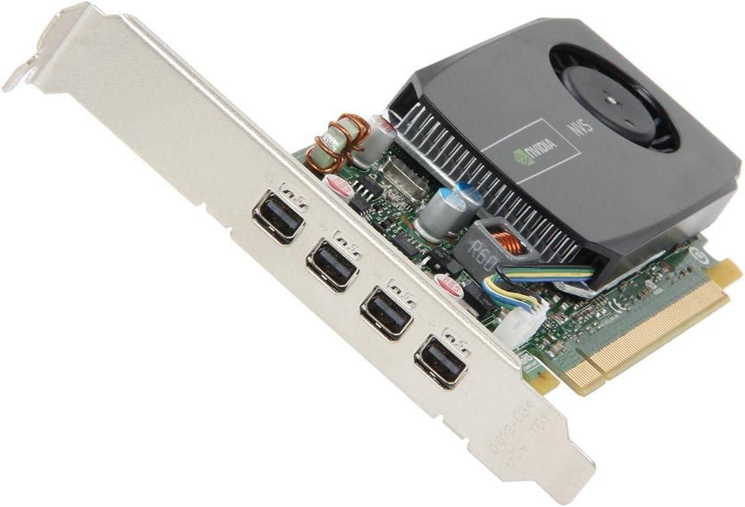 PNY NVIDIA NVS 510 2GB GDDR3 4-Mini DisplayPort Low Profile PCI-Express Video Card VCNVS510DP-PB (Renewed)