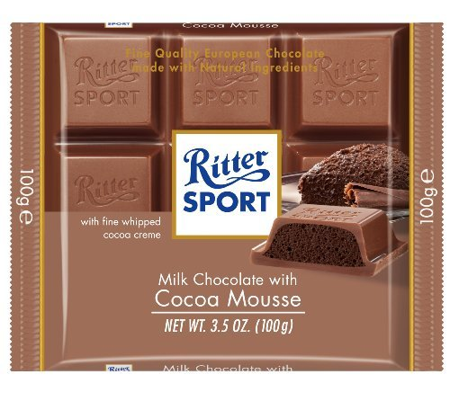 Ritter Sport Milk Chocolate with Cocoa Mousse, 3.5-Ounce (Pack of 11) by Ritter Sport