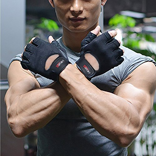 Emerge Fitness Crossfit Gloves: IiSPORT Mens Weight Lifting Gloves Leather Grip Gym