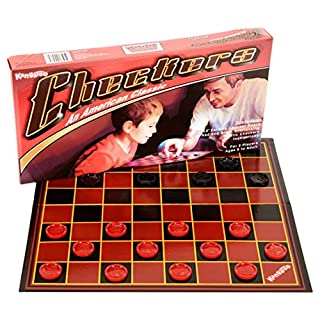 Kangaroo Checkers Board Game - Foldable Paper Checkers Board - Portable Educational Travel Checkers