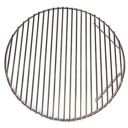(Hongso Cooking Grid Grate Replacement, Stainless Steel SUS304 Round Grid for Large Big Green Egg, Char-Griller,Kamado Joe, Vision Grill VGKSS-CC2, B-11N1A1-Y2A Gas Grill, 18 1/2 Inch Diameter (BGE18))