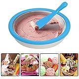 Ice Cream Maker, SIN+MON Instant Ice Cream Maker Yogurt Frozen Sorbet Gelato Maker Pan Ice Roll Time Pan Ice Cream Maker Electric Stirring for Kids [Ship from USA] (Blue)