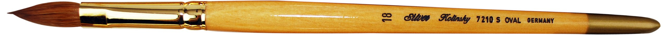 Silver Brush 7210S-18 Silver Kolinsky Sable Short Handle Excellent Quality Brush, Oval, Size 18