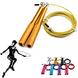 Suki Chris Jump Rope Portable Weighted for Boxing MMA Fitness Training - Non-slip Aluminum Handles Adjustable Wire Jump Rope (Weight jump rope)