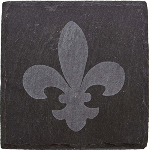 Thirstystone Etched Fleur de Lis Slate Coaster, ()