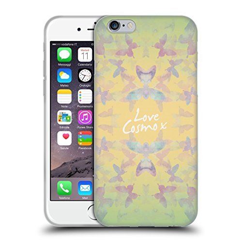 Official Cosmopolitan Butterfly Kaleidoscope Pastels Soft Gel Case for Apple iPhone 6 / 6s