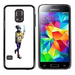 iKiki Tech / Estuche rígido - Emo fumadores Chica - Samsung Galaxy S5 Mini, SM-G800