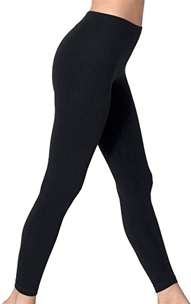 718b7667103a7d Leg Impressions Ladies Fleece Lined Footless Leggings - Queen Size - Black  at Amazon Women's Clothing store: Athletic Leggings