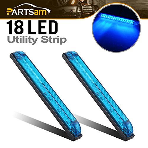 - Partsam 2pcs Blue - 18LED 8
