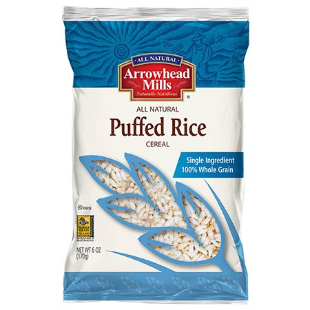 Arrowhead Mills Puffed Rice Cereal, 6 oz Crispy Brown Rice Cereal