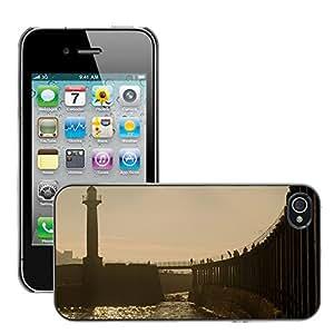 Print Motif Coque de protection Case Cover // M00155903 Antecedentes Whitby Faros Mar // Apple iPhone 4 4S 4G
