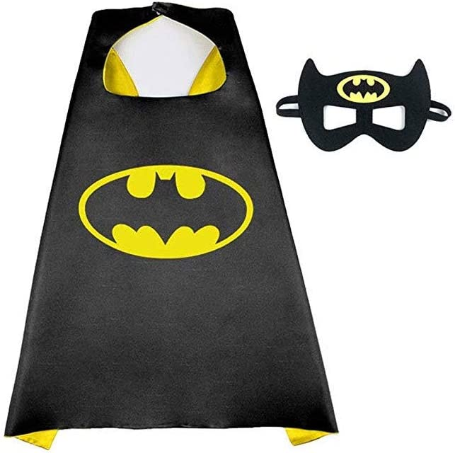 Buy4Deals Avengers Authorized Cape and Mask - Amazing Cool Halloween Costume Accessories for Child (Black)