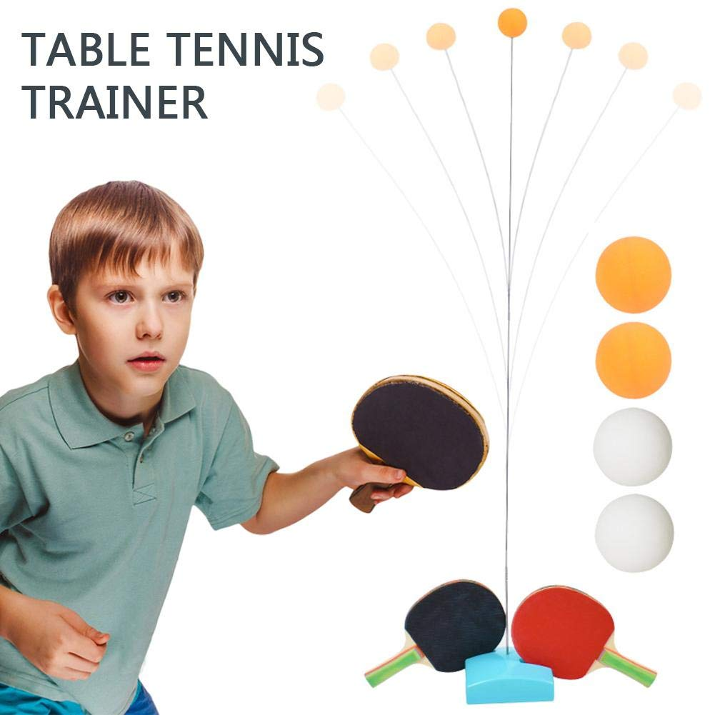 systematiw Table Tennis Racket Set Robot Automatic for Different Spin Balls Self Training Pingpong Paddle with 2 Bats 4 Balls and Holder
