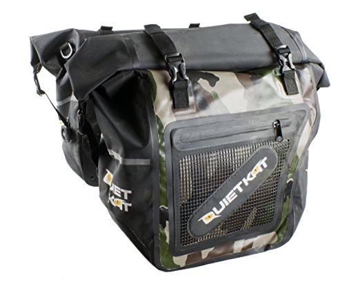 QuietKat Pannier Dry Saddle Bags for 750W & 1000W Fatkat Ebikes- Camo by QuietKat (Image #1)