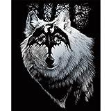 ROYAL BRUSH Silver Foil Engraving Art Kit, 8 by 10-Inch, Dragon Wolf