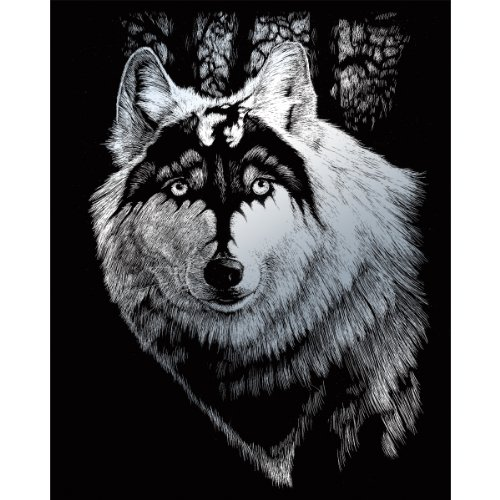 - ROYAL BRUSH Silver Foil Engraving Art Kit, 8 by 10-Inch, Dragon Wolf
