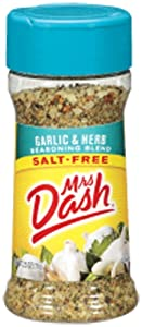 Mrs. Dash GARLIC & HERB Salt-Free Seasoning 2.5oz (2-pack)