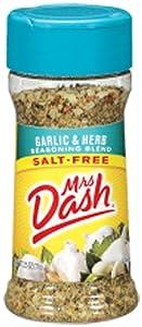 Mrs. Dash GARLIC & HERB Salt-Free Seasoning 2.5oz (2-pack)