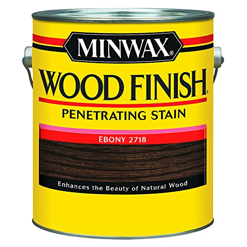 (Minwax 710130000 Wood Finish Penetrating Stain, gallon, Ebony)