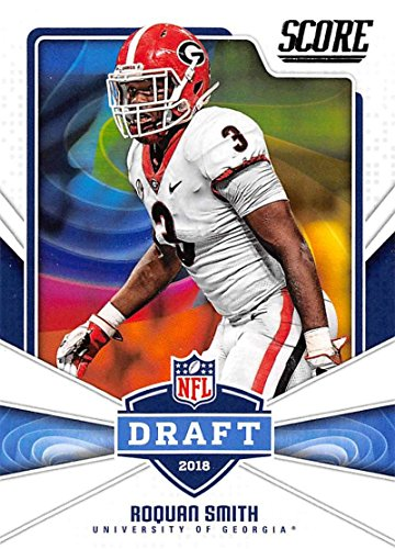 2018 Score NFL Draft #13 Roquan Smith Georgia Bulldogs Rookie RC Football (Smith Football Card)