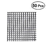 OUNONA 50Pcs Plastic Flower Pot Mesh Pad Prevent Soil Loss Leak-proof Pad Anti-corrosion Breathable Net