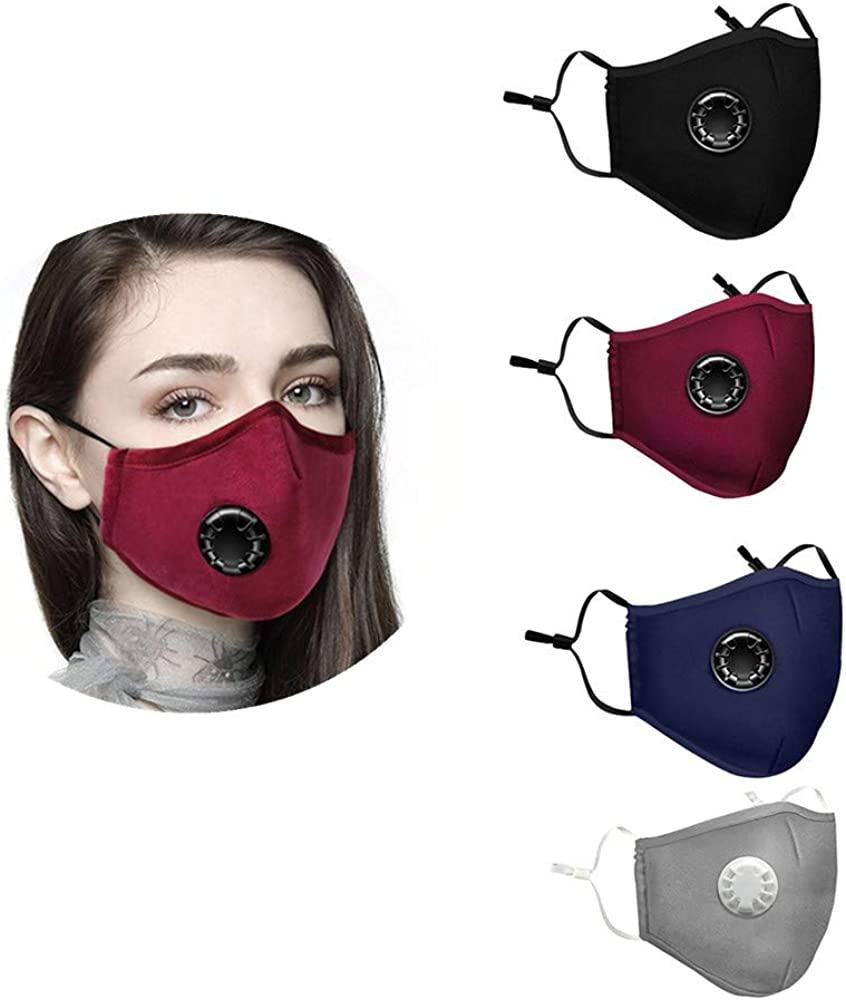 LULU99 5pcs Face Protection A Cotton Adults Face Bandanas Reusable /& Washable Sh/ìeld Funny Colored Mouth Face Fabric for Women Men Outdoor Fishing Indoor Face M/àsc Breathable with Ear Loops
