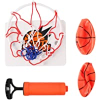 TOYANDONA 1 Set of Basketball Hoop Game for Kids and Adults Mini Basketball Portable Wall-Mounted Interesting Funny Indoor Basketball Toy Sports Game Toy for Home, Office, Bedroom