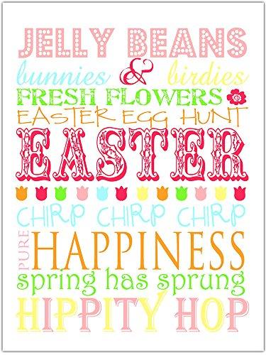 Easter Subway Art Jelly Beans Poster Wall Art Decor -