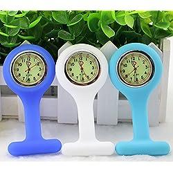 BestGrew® Set of 3 High Quality Unisex Nurses Lapel Watch Silicone (Infection Control)