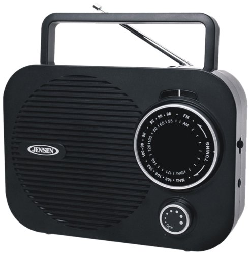 Jensen MR-550 Portable AM/FM Radio with Aux Line-In