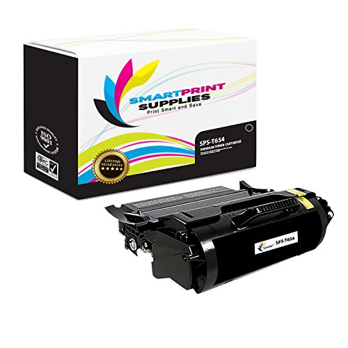 - Smart Print Supplies Compatible T654X11A T654X21A Black Toner Cartridge Replacement for Lexmark T654 T656 Printers (36,000 Pages)