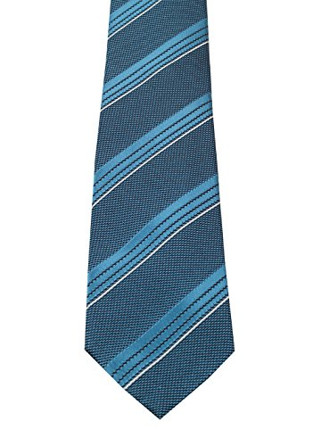 CL - TOM FORD Striped Blue Tie In Silk (Tom Ties Ford)