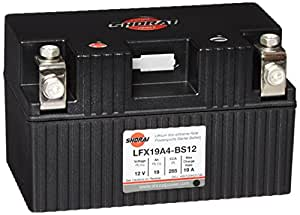 Shorai LFX Battery - LFX19A4-BS12/Black