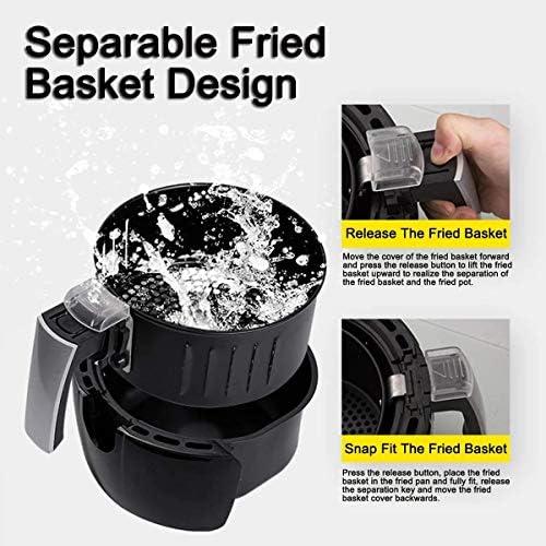 PLEASUR Friteuse à air Profond électrique à Del numérique de 3,8 L Friteuse Intelligente Polyvalente