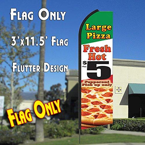 LARGE PIZZA  $5 Flutter Feather Banner Flag