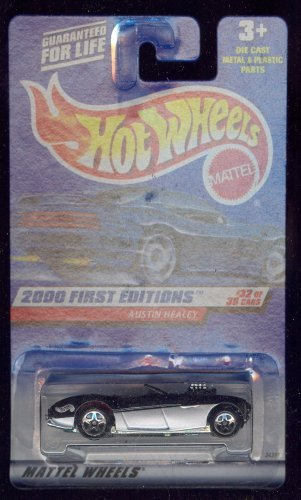 (AUSTIN HEALEY * BLACK * 2000 FIRST EDITIONS SERIES #32 of 36 HOT WHEELS Basic Car 1:64 Scale Series * Collector #092)