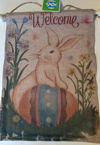 Walmart EASTER BUNNY WALL HANGING BURLAP WELCOME NEW (Bunny Easter Walmart)
