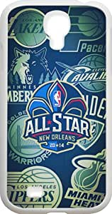 White Samsung Galaxy S4 Case for 2014 NBA All-Star Game - Hard Plastic Samsung Galaxy S4 Case - White