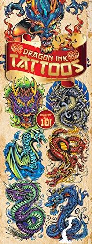 Dragon Ink Temporary Tattoos, 10 sheets of Fantastic Dragon tattoos