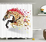 Makeover your bathroom with just a single touch! Start with these fun and decorative shower curtains. SIZE: 70 INCHES LONG and 69 INCHES WIDE. Our unique & modern designs match well with various color palettes of towels, rugs, bathroom mats and a...