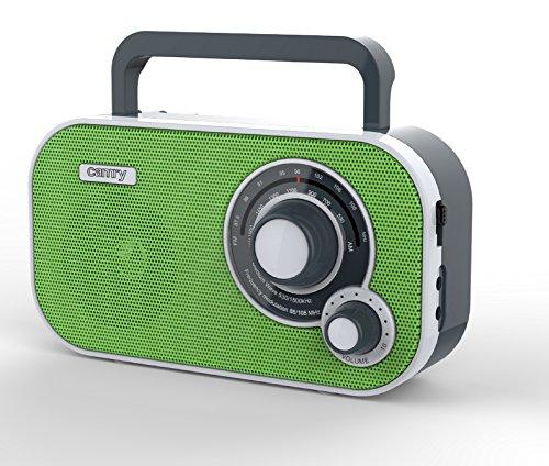 Tragbares Stereo Radio mit AUX IN und Kopfhöreranschluss Küchenradio Retro Nostalgie Design (Grün)