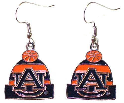NCAA Auburn Tigers Knit Hat Dangler Earrings